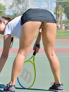 Tennis Upskirt Porn Pics