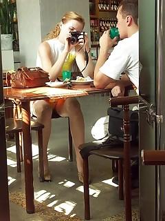 Under Table Upskirt Porn Pics